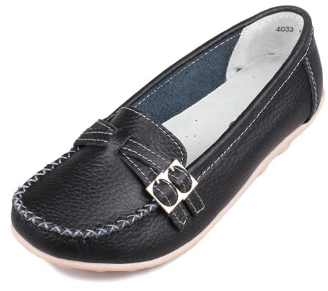 casual loafers moccasins new womens leather shoes casual slip on ballet