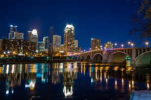 Cityscape Duvet Minneapolis City Lights Photograph By Mark Goodman