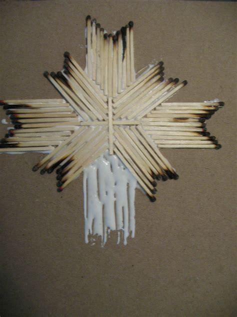 matchstick craft for matchstick cross burnt match cross youth activity