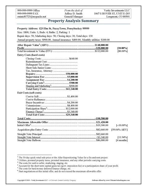 Sale Of Home Worksheet by Property Analysis Worksheet Form Ultimate Bargains