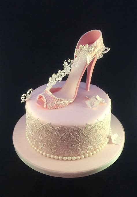 cakes shoes shoe cake pretty pink shoe birthday cake with cake lace