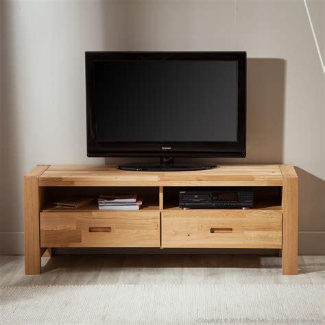meuble de tv meuble tv haut chene massif