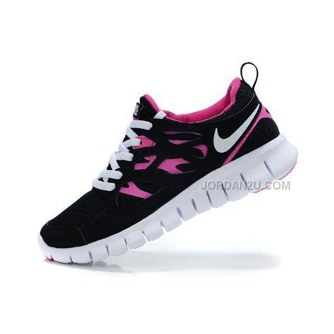nike free run 2 womens running shoes black pink on sale
