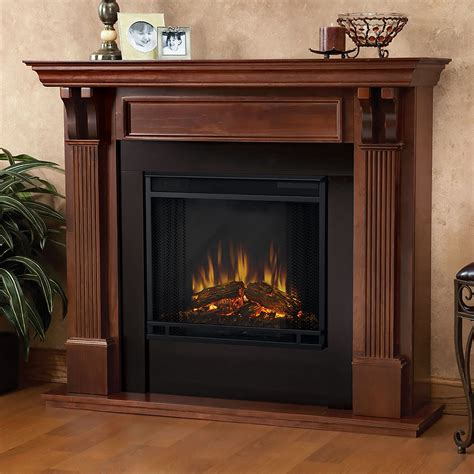 ashley electric fireplace mantel package in mahogany 7100e m
