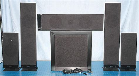 kef t205 5 1 channel home theater speaker system product