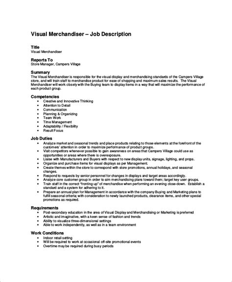 merchandiser job description simple job description of