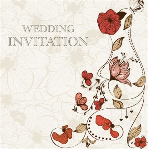 vintage wedding card background images free vintage wedding invitation card with floral background 01 titanui