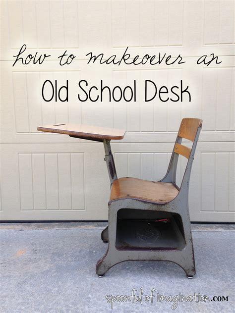 Ideas For School Desks by School Desk Makeover Spoonful Of Imagination