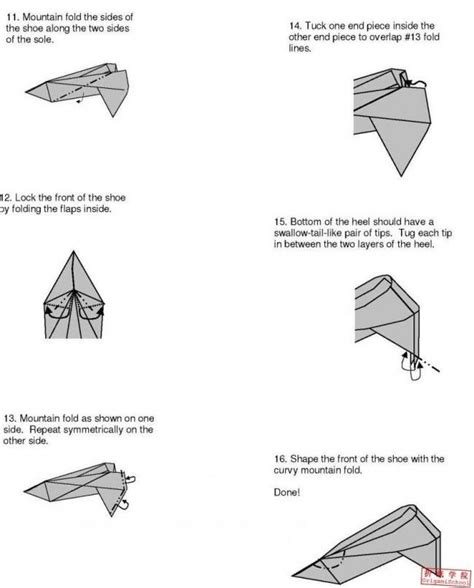 How To Make A Paper High Heel Shoe - 1000 images about origami shoes dress on