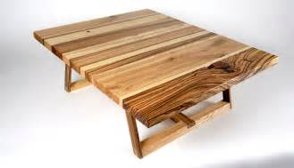 solid ash and zebra wood coffee table design of bandwidth