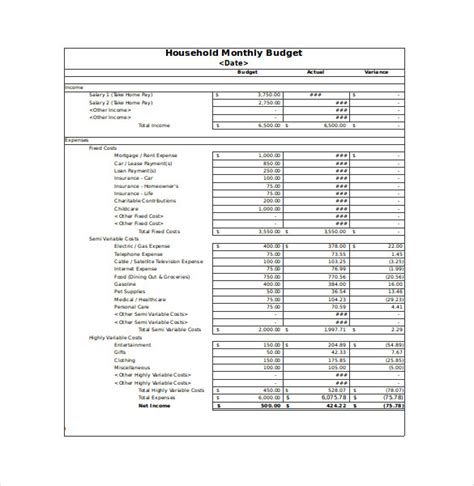 monthly household expenses template free monthly household budget worksheet excel monthly