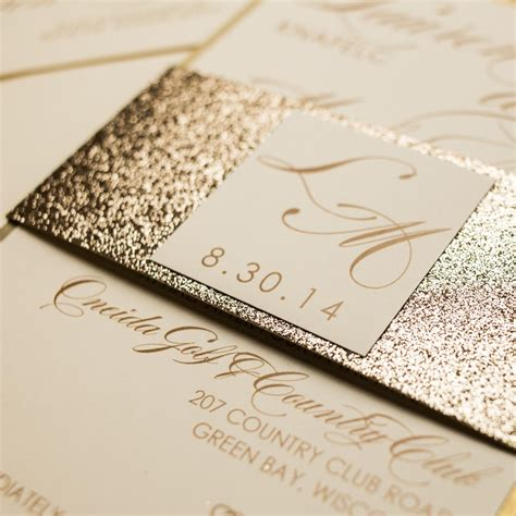 Wedding Invitations Glitter by Chagne Glitter Wedding Invitations Chic