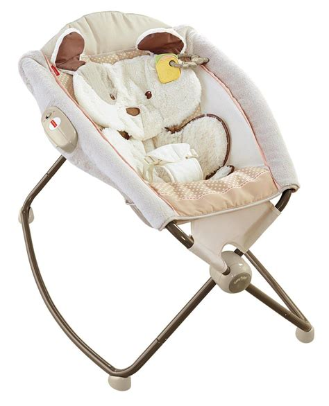 fisher price snugapuppy deluxe newborn rock n