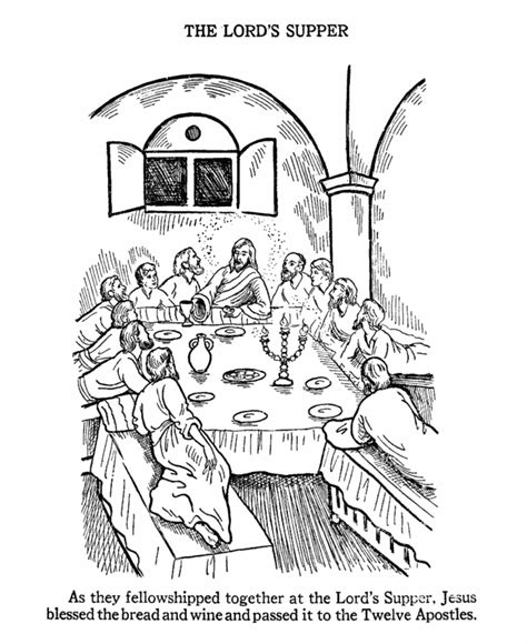 coloring page last supper bible coloring page the last supper bible class baby