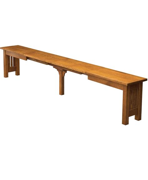 benches direct mission extend a bench amish direct furniture