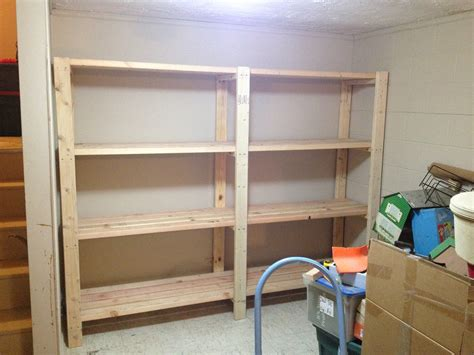 diy storage 2 x 4 garage shelves built into basement storage do it