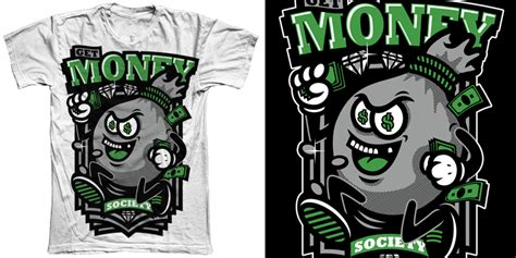 Kaost Shirttumblr Work For Money Design For get money society for sale t shirt design by zamboaga mintees