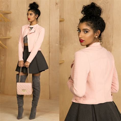 Boots Anak Piotex Grey Suede Babypink 1 stradivarius zara real leather white pink black biker jacket with belt