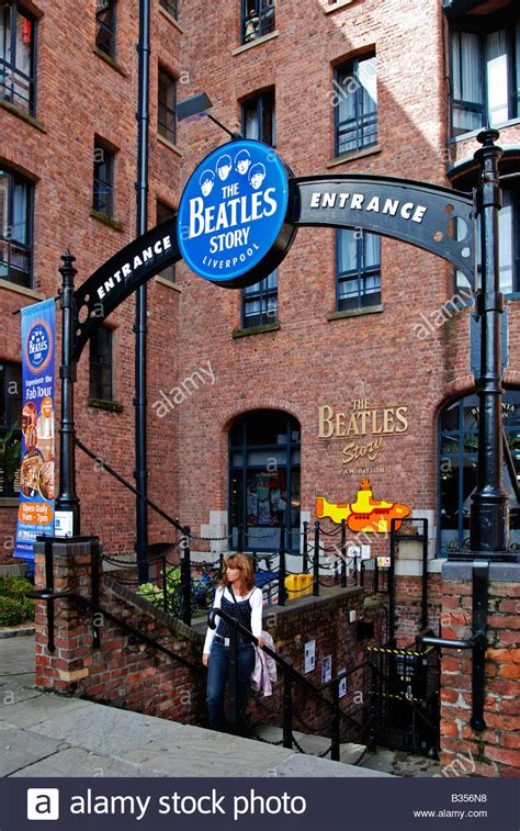 The Story the quot beatles story quot museum at the quot albert dock quot in stock