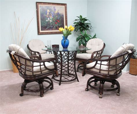 dining room sets with chairs on casters kitchen table sets with caster chairs images dining room