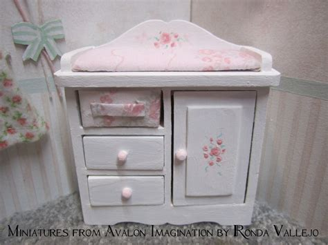 miniature dollhouse 1 12 scale shabby chic nursery furniture in white