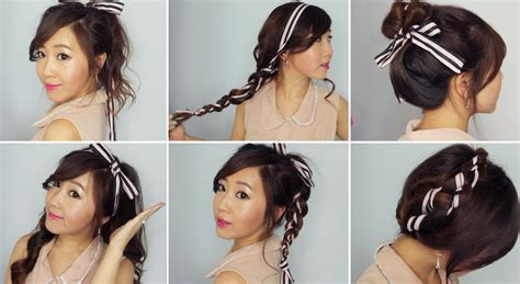 ribbon hairstyles 6 easy ribbon hairstyles