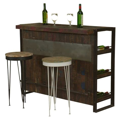 Industrial Bar Cabinet Gratis Modern Mango Wood Industrial Wine Bar Cabinet With 2 Stools