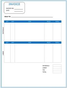 template word free contractor invoice template word invoice exle