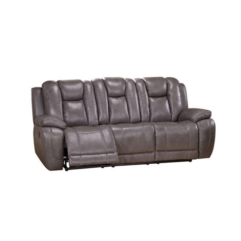 reclining sofa with drop down table amax leather austin grey drop down table reclining sofa