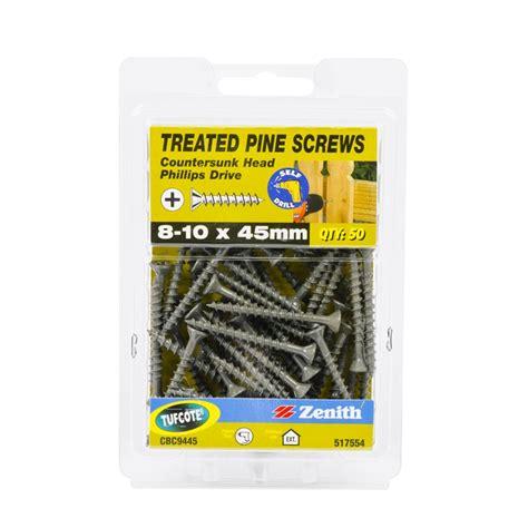 Sdw Countersunk 14 X 14 X 50 zenith 8 10 x 45mm treated pine countersunk screws