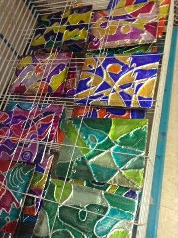 arts and crafts projects for middle school tin foil yarn cardboard and sharpies this makes a cool