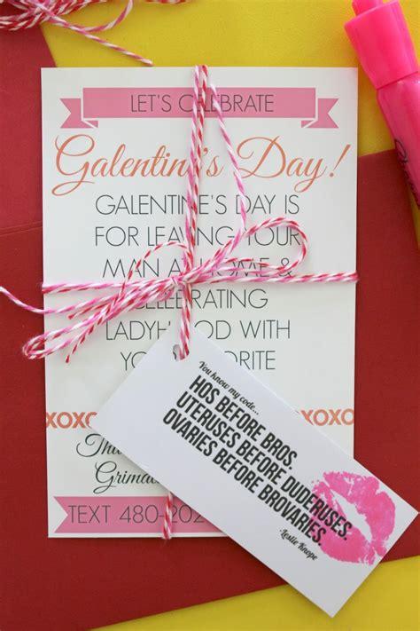 day invitations make galentine s day invitations