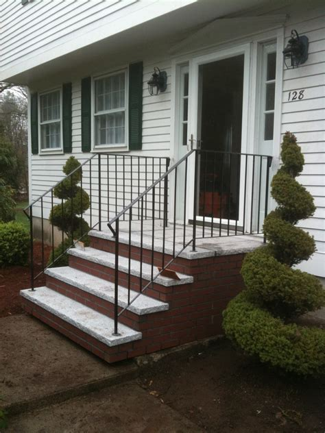Front Staircase Design Design Modern Stair Interactive Front Porch Using White Wood Stair Stair Siding Including Brick