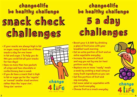 live healthy challenge mrknight co uk change4life be healthy challenges list