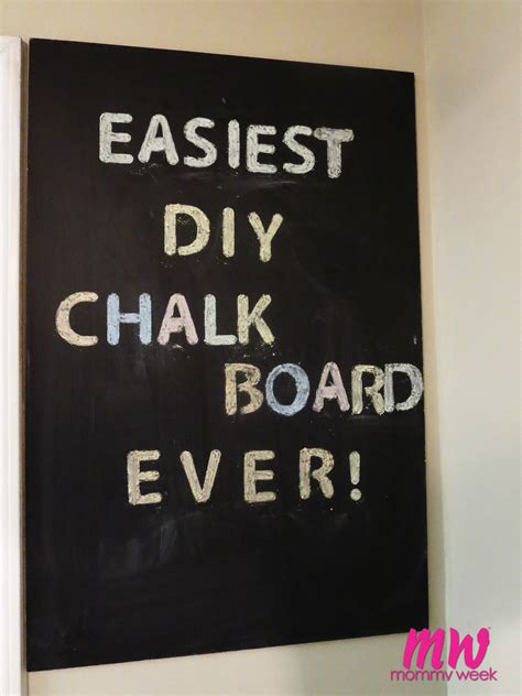 diy chalkboard how to easiest diy chalkboard week week
