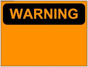 caution sign template warning sign template sle templates