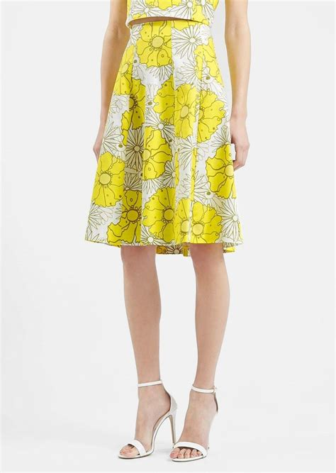 topshop topshop floral print midi skirt skirts