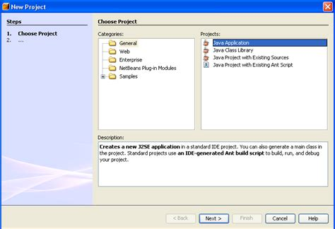 naming pattern in java beans netbeans tutorials 3 creating a new project