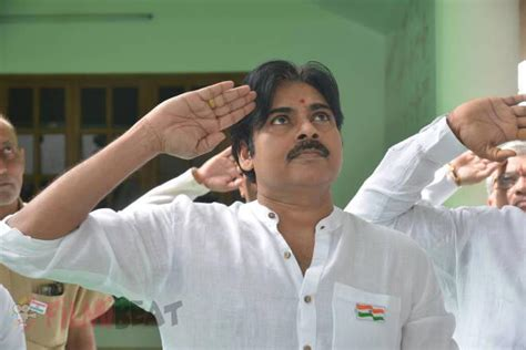 a view on pawan kalyan party s flag and song wishesh special photos pawan kalyan flag hoisting at janasena party
