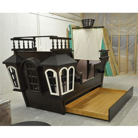 Pearl Pirate Ship Bed W Trundle Crows Nest And More Pirate Bed
