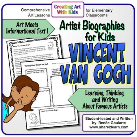 artist biography reading comprehension art meets informational text free resource an artist
