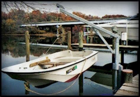 small boat davits used jet ski lifts bing images