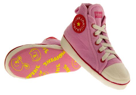 comfy slipper boots pink hi tops novelty slippers comfy trainers ankle