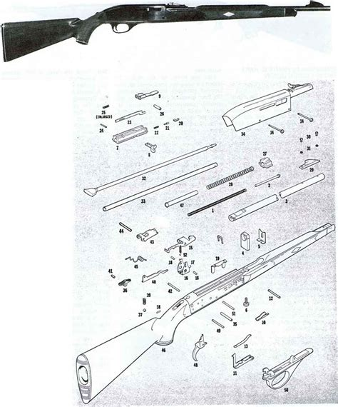 remington 66 parts diagram remington 66 schematic complete reassembly of the