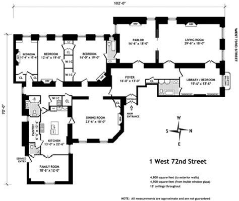 Apartment Floor Plans In New York City Floor Plan For Apartment In The Dakota The House Of My