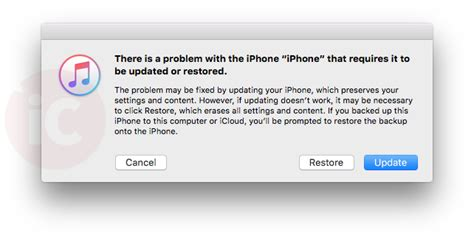 ios 10 update error causes into itunes fix requires itunes u iphone in canada