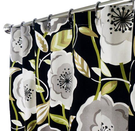green and black shower curtain buy fabric shower curtains black green shower curtain