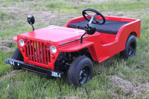 kids red jeep red jeep 110cc petrol 2 seater kids ride on ebay