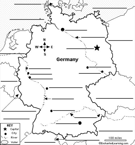 labeled map of germany german map label me printout enchantedlearning