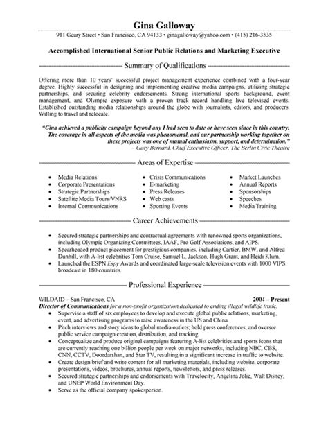 Health Communication Specialist Sle Resume by Entertainment Executive Page1 Free Resume Slesexecutive Health Communication Specialist